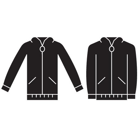 Jumper sweatshirt black vector concept icon. Jumper sweatshirt flat illustration, sign, symbol