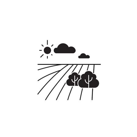 Horticulture concept black vector concept icon. Horticulture concept flat illustration, sign, symbol Illustration