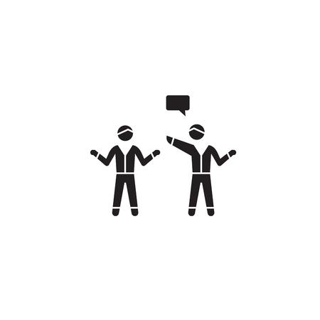 Indictment, blaming black vector concept icon. Indictment, blaming flat illustration, sign, symbol