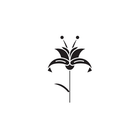 Lily black vector concept icon. Lily flat illustration, sign, symbol Zdjęcie Seryjne - 126909746