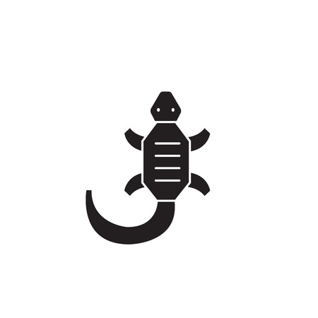 Lizard black vector concept icon. Lizard flat illustration, sign, symbol Stockfoto - 126909748