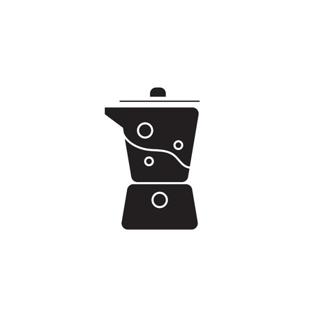 Kitchen blender black vector concept icon. Kitchen blender flat illustration, sign, symbol