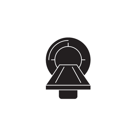 Magnetic resonance imaging (mri) black vector concept icon. Magnetic resonance imaging (mri) flat illustration, sign, symbol Illustration