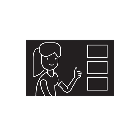 Making a choice black vector concept icon. Making a choice flat illustration, sign, symbol
