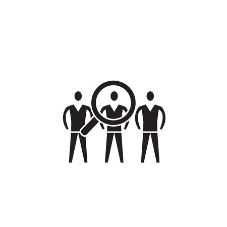 Performance team black vector concept icon. Performance team flat illustration, sign, symbol Illustration