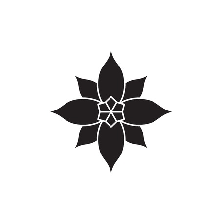 Poinsettia black vector concept icon. Poinsettia flat illustration, sign, symbol Иллюстрация