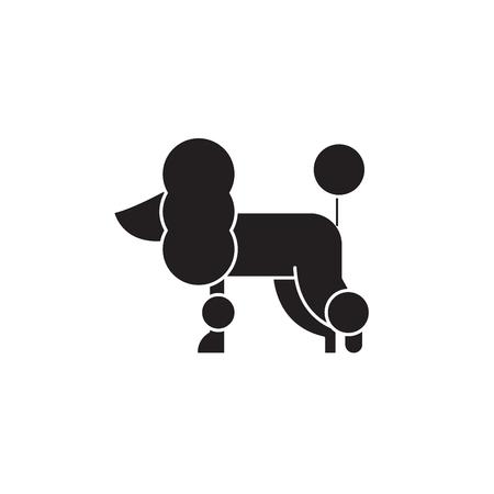 Poodle black vector concept icon. Poodle flat illustration, sign, symbol Illustration