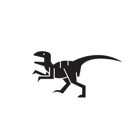 Raptor black vector concept icon. Raptor flat illustration, sign, symbol