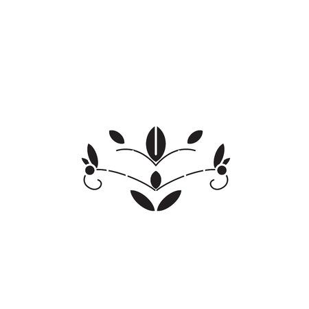 Soapwort black vector concept icon. Soapwort flat illustration, sign, symbol 일러스트