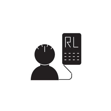 Transcranial doppler black vector concept icon. Transcranial doppler flat illustration, sign, symbol