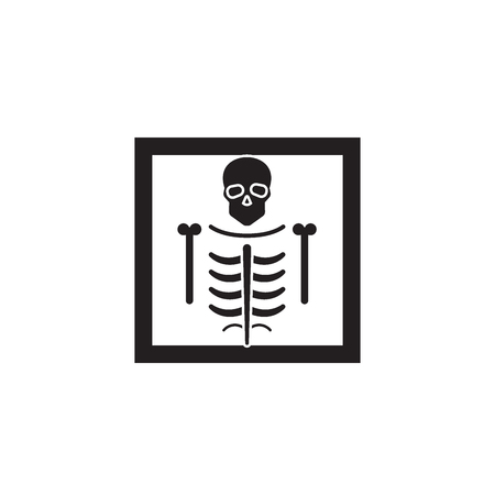 X-ray black vector concept icon. X-ray flat illustration, sign, symbol
