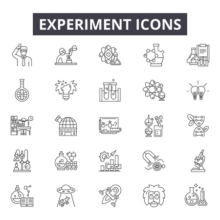 Experiment line icons for web and mobile. Editable stroke signs. Experiment  outline concept illustrations Stock fotó - 119390423