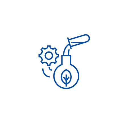 Agriculture science line concept icon. Agriculture science flat  vector website sign, outline symbol, illustration.