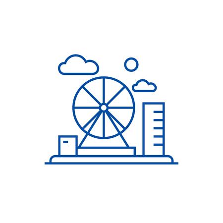 Adventure park line concept icon. Adventure park flat  vector website sign, outline symbol, illustration. Illustration