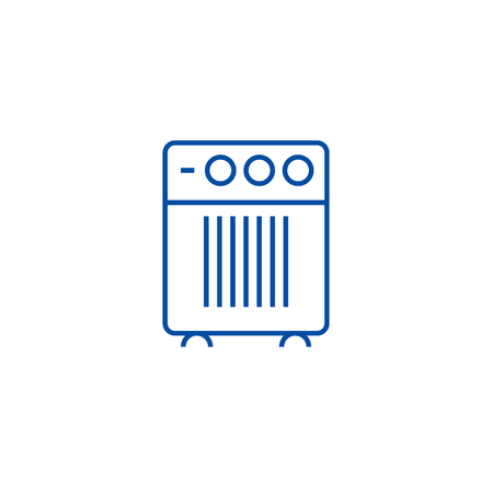 Air cleaner, humidifier line concept icon. Air cleaner, humidifier flat  vector website sign, outline symbol, illustration.