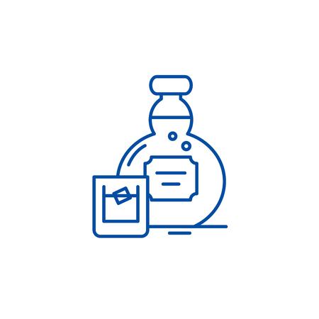 Alcohol line concept icon. Alcohol flat  vector website sign, outline symbol, illustration.