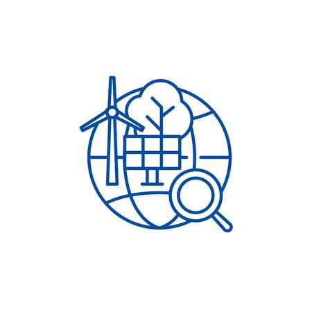 Alternative energy line concept icon. Alternative energy flat  vector website sign, outline symbol, illustration.