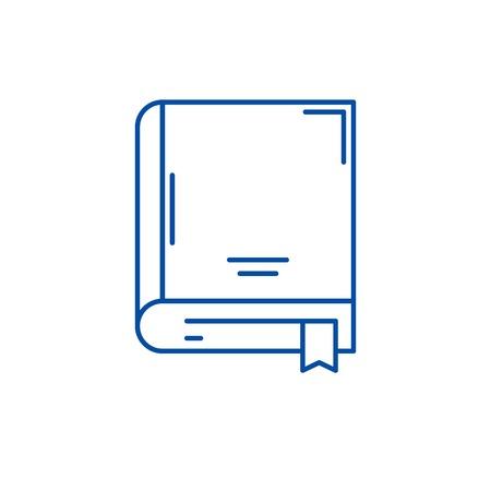 Archive book line concept icon. Archive book flat  vector website sign, outline symbol, illustration. Illustration
