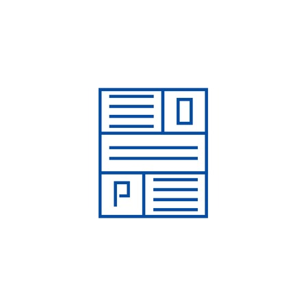 Article line concept icon. Article flat  vector website sign, outline symbol, illustration.