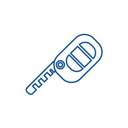 Icône de concept de ligne de touches automatiques. Signe de site Web de vecteur plat de clés automatiques, symbole de contour, illustration. Vecteurs