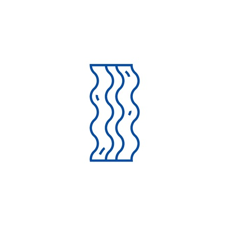 Bacon line concept icon. Bacon flat  vector website sign, outline symbol, illustration.
