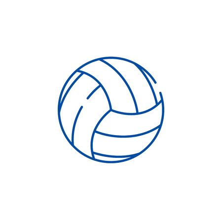 Basketball game line concept icon. Basketball game flat  vector website sign, outline symbol, illustration.