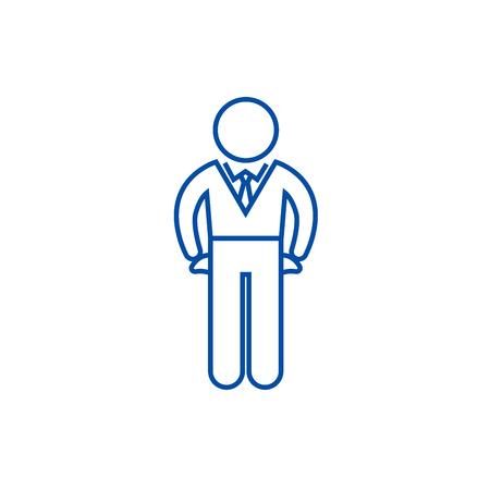 Icône de concept de ligne de canard en faillite, boiteux. Faillite, boiteux canard télévision vector website sign, symbole du contour, illustration.
