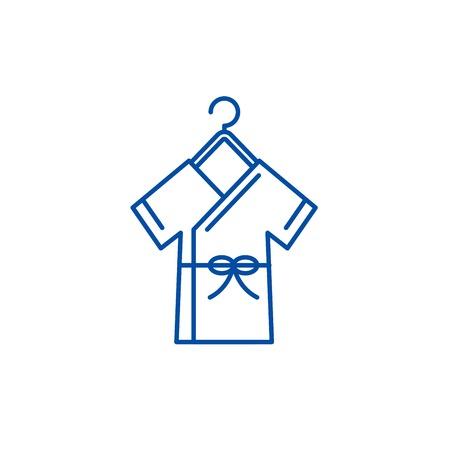 Bathrobe line concept icon. Bathrobe flat  vector website sign, outline symbol, illustration. Stok Fotoğraf - 119710468