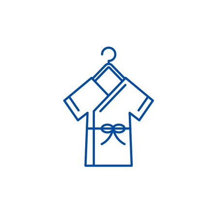 Bathrobe line concept icon. Bathrobe flat  vector website sign, outline symbol, illustration. Illustration