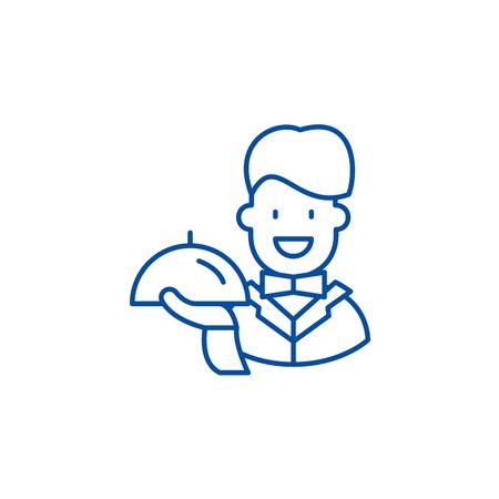 Best service line concept icon. Best service flat  vector website sign, outline symbol, illustration.