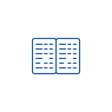 Bookkeeping, budget line concept icon. Bookkeeping, budget flat  vector website sign, outline symbol, illustration. Illustration