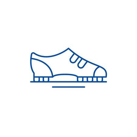 Boots line concept icon. Boots flat  vector website sign, outline symbol, illustration. Standard-Bild - 119710785