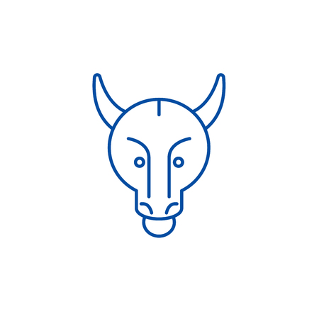 Bullish trend line concept icon. Bullish trend flat  vector website sign, outline symbol, illustration.