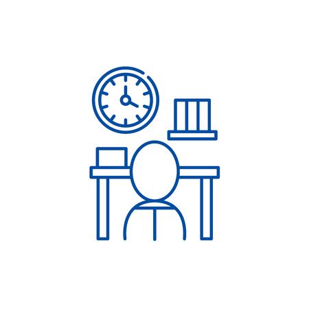 Bureaucracy line concept icon. Bureaucracy flat  vector website sign, outline symbol, illustration.