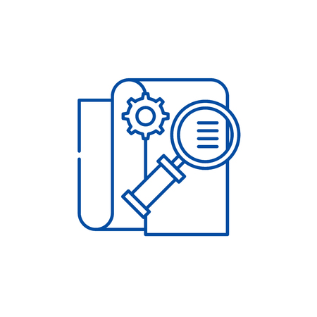 Business intelligence line concept icon. Business intelligence flat  vector website sign, outline symbol, illustration.