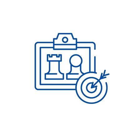 Business model generation line concept icon. Business model generation flat  vector website sign, outline symbol, illustration. Standard-Bild - 119711309
