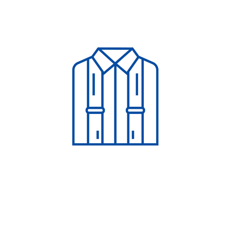 Business suspenders line concept icon. Business suspenders flat  vector website sign, outline symbol, illustration. Banco de Imagens - 119711351