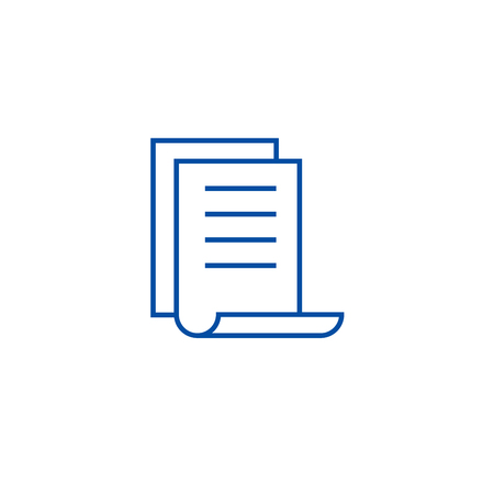 Calendar file,do list line concept icon. Calendar file,do list flat  vector website sign, outline symbol, illustration.