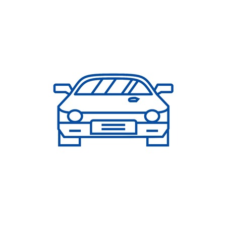 Car race,racing line concept icon. Car race,racing flat  vector website sign, outline symbol, illustration.  イラスト・ベクター素材