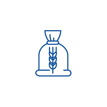 Ceral bag line concept icon. Ceral bag flat  vector website sign, outline symbol, illustration.
