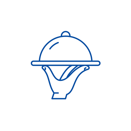 Catering line concept icon. Catering flat  vector website sign, outline symbol, illustration.