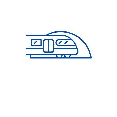 Subway line concept icon. Subway flat  vector website sign, outline symbol, illustration.