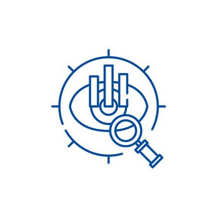 Strategic vision line concept icon. Strategic vision flat  vector website sign, outline symbol, illustration.