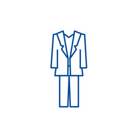 Suit line concept icon. Suit flat  vector website sign, outline symbol, illustration. Foto de archivo - 119711770
