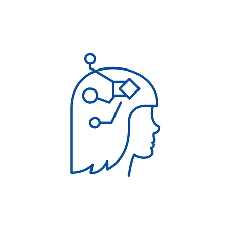 Structuredness line concept icon. Structuredness flat  vector website sign, outline symbol, illustration. Illustration