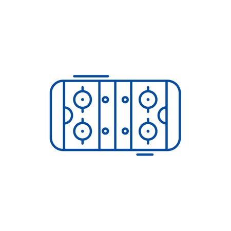 Table soccer line concept icon. Table soccer flat  vector website sign, outline symbol, illustration. Illustration