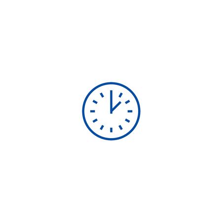 Time line concept icon. Time flat  vector website sign, outline symbol, illustration.