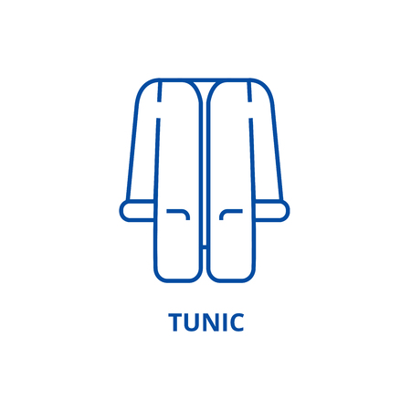 Tunic line concept icon. Tunic flat  vector website sign, outline symbol, illustration.