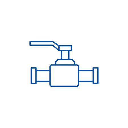 Valve illustration line concept icon. Valve illustration flat  vector website sign, outline symbol, illustration. 向量圖像