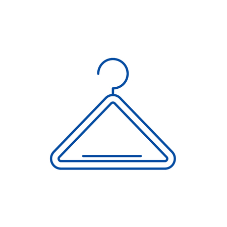 Wardrobe hangers line concept icon. Wardrobe hangers flat  vector website sign, outline symbol, illustration.